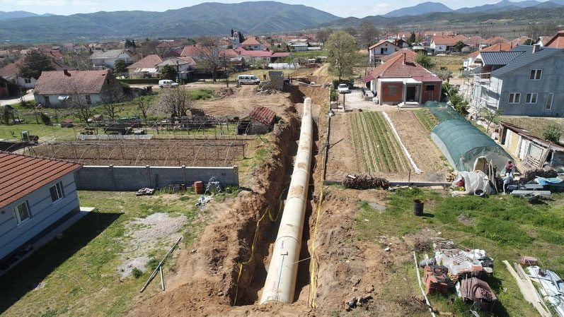 """Системот за наводнување """"Јужна вардарска долина"""" кој според властите е во завршна фаза / Фото: АД Водостопанство"""
