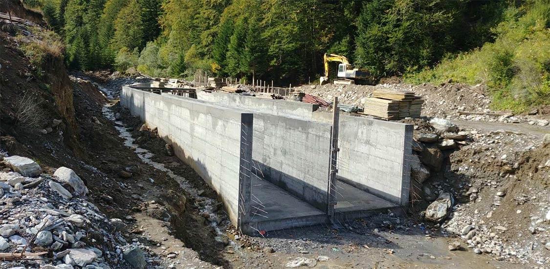 Слика од градба на МХЦ во Лешница